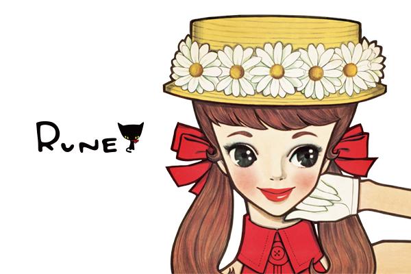 内藤ルネのiMessage「ルネ Kawaii ステッカー」をリリースしました。